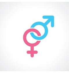 Men women symbol vector