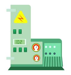 Modern industrial machine icon vector