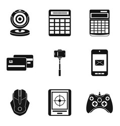 Money for game icons set simple style vector