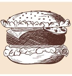 School props hamburger vector