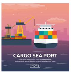 sea transportation logistic sea freight maritime vector image