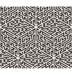 Seamless black and white isometric maze vector