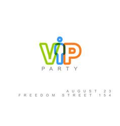 Vip club party invitation template vector