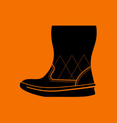 woman fluffy boot icon vector image