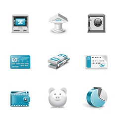 Bank and finance buttons vector