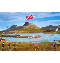 Norway landscape vector