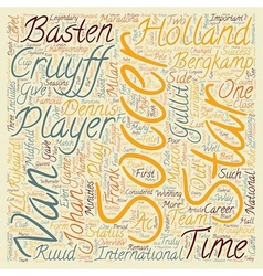 Sports legendaries holland soccer stars text vector