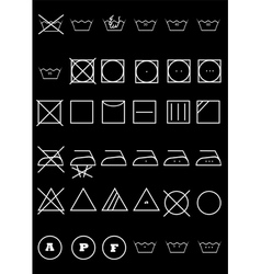 Symbols for clothes vector