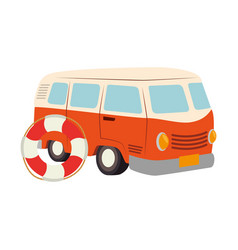 van travel summer icon vector image