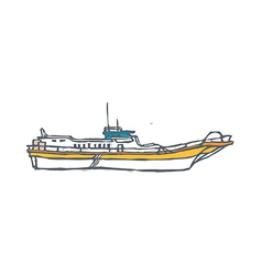 A ship is floating vector