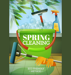 Spring cleaning poster vector