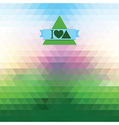 Dawn of triangles vector