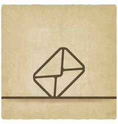 Mail envelope symbol old background vector