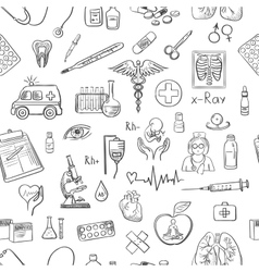 hand draw medicine pattern vector image