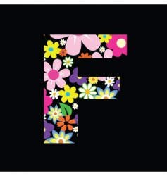 floral f vector image