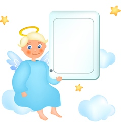 Cloud angel vector