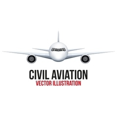 Civil Aircraft vector image