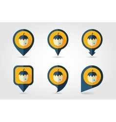 Nut mapping pins icons vector
