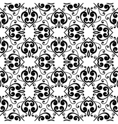 Abstract monochrome seamless hand-drawn pattern vector