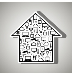 Smart home with isolated icon design vector