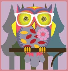 Vintage owl vector
