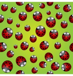 abstract background seamless pattern with ladybugs vector image