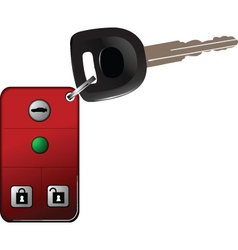 Alarm car keys on chain vector