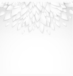 background with paper plastic white leaves vector image vector image