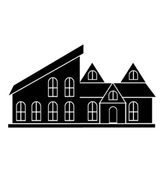 Cottage house icon simple style vector image