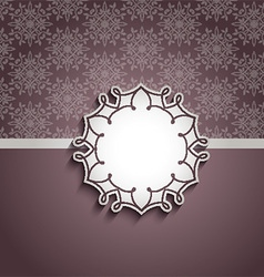 Decorative background with blank label vector image