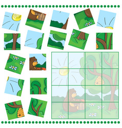 Education puzzle game for children vector