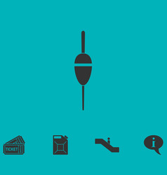 Fishing float icon flat vector