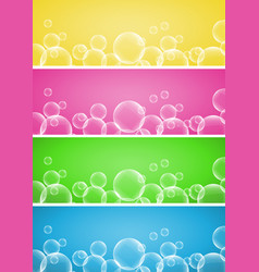 Four background design with bubbles vector