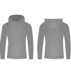 grey hoodie vector image vector image