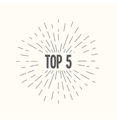 Hand drawn sunburst - top 5 vector