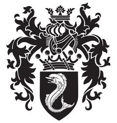 Heraldic silhouette no3 vector