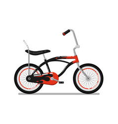 Kids bicycle for boy isolated icon vector