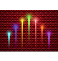 Lighting stick on abstract background vector image vector image