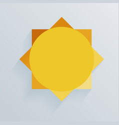 paper sun whith shadow background vector image