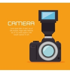 Photo camera flash professional design graphic vector