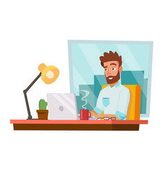 programmer man development working man vector image vector image