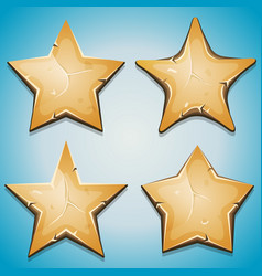 Sand stars icons for ui game vector