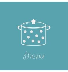 Saucepan with dots menu cover vector
