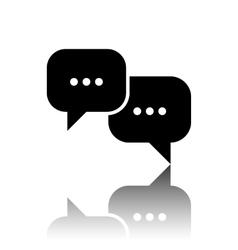 Speech bubles icon vector