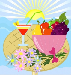 still summer vector image