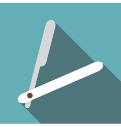 Straight razor icon flat style vector