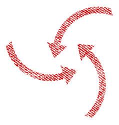 Swirl arrows fabric textured icon vector