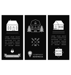 Templates business card with houses vector image
