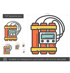 Tnt dynamite line icon vector