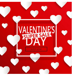 Valentines day super sale vector